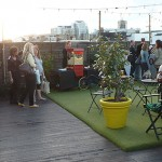 Rooftop cinema Queen of Hoxton