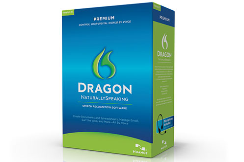 Dragon NaturallySpeaking speech recognition software