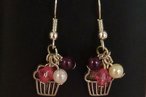 Chic Unique cupcake earrings