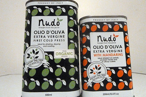 Nudo olive oil infused range