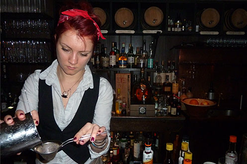 Cocktail making at Worship St Whistling Shop