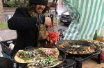 Mackerel flatbread Mike and Ollie food stall Brockley market