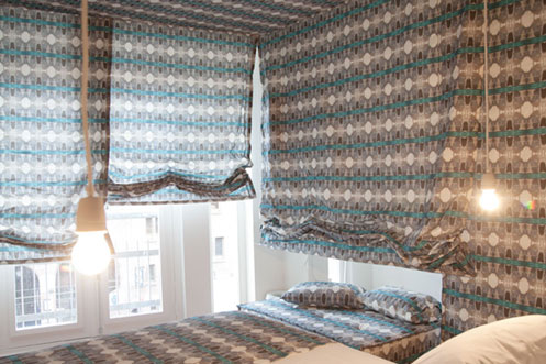 City camouflage room The Exchange Hotel Amsterdam  designed by Anne Wolters