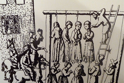 Pendle Witches hanged at the gallows