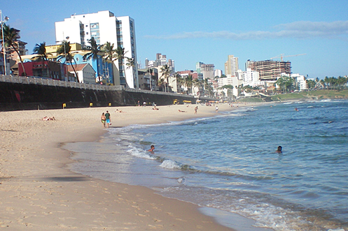 Barra beach Salvador Brazil