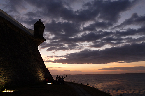 Barra lighthouse Salvador sunset