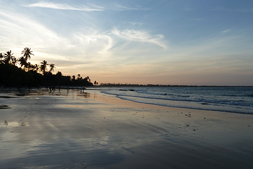Boipeba beach sunset