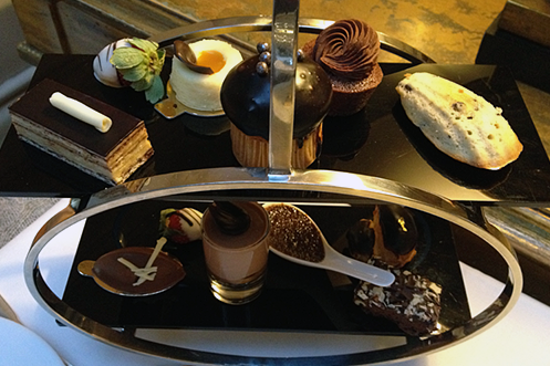 Landmark London Hotel chocolate afternoon tea