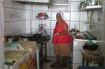Tia Maria restaurant Salvador Bahia at work in the kitchen