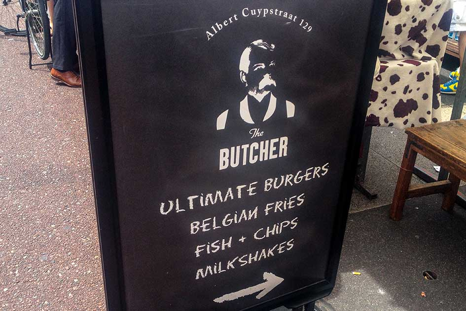 The only clue to the whereabouts of The Butcher, Amsterdam's secret bar