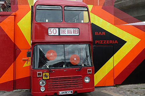 Big Red Pizza Bus Deptford exterior