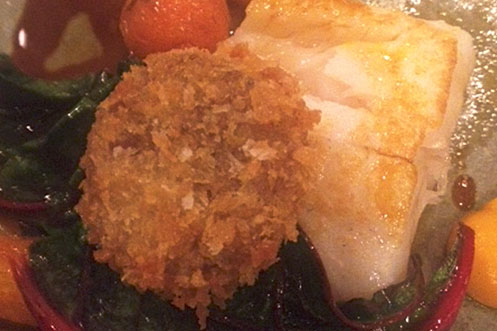Plaice with sweetbreads