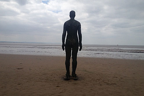 Anthony Gormley Another Place Crosby beach, Merseyside