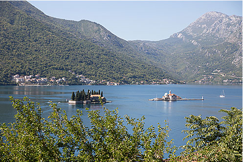 Perast view of Lady of our Rock