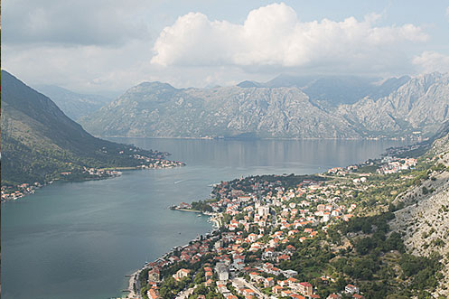 View of Kotor Bay from fortress