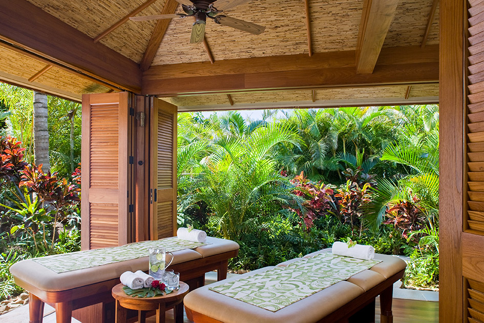 One of the outdoor hales at the Grand Hyatt Kauai's Anara Spa