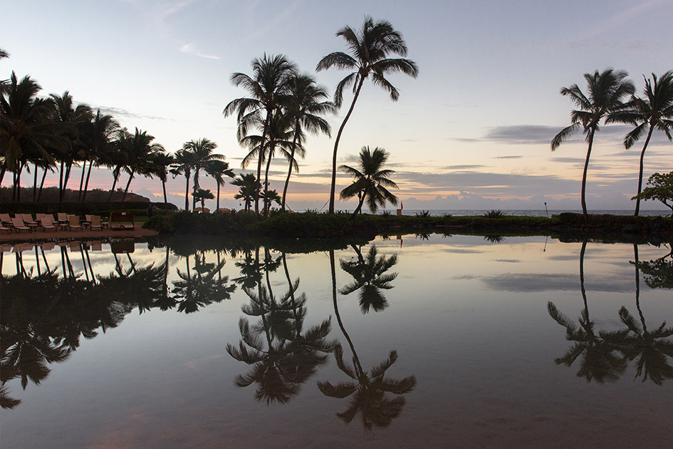 The saltwater lagoon at Kauai's best hotel