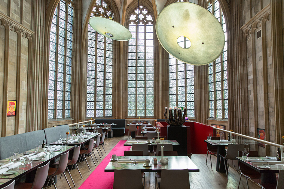 Breakfast is served at the Kruisherenhotel, Maastricht's monastery hotel