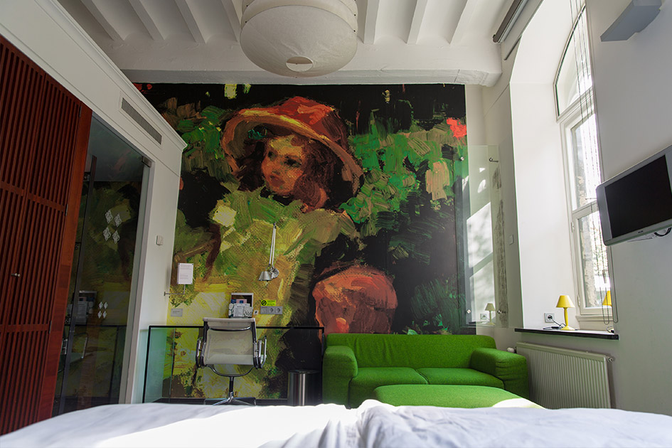 Our room at Maastricht's monastery hotel