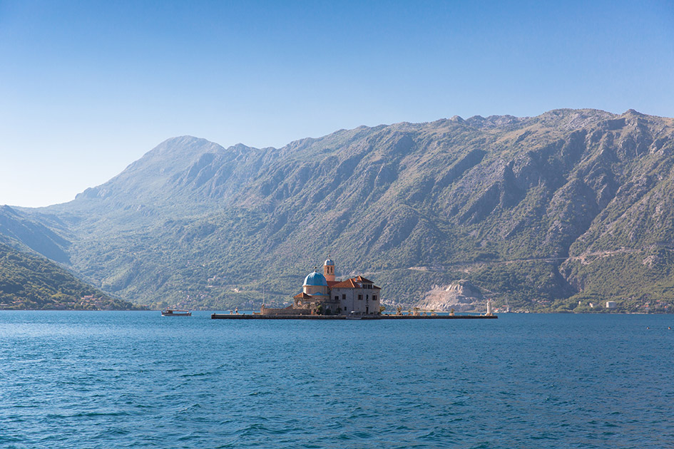 Hop in a water taxi to Our Lady of the Rock one of Montenegro's hidden gems