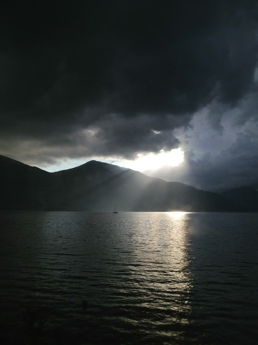 Sunrise over the Bay of Kotor, another of Montenegro's hidden gems