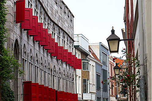 Dutch architecture in the streets of Utrecht