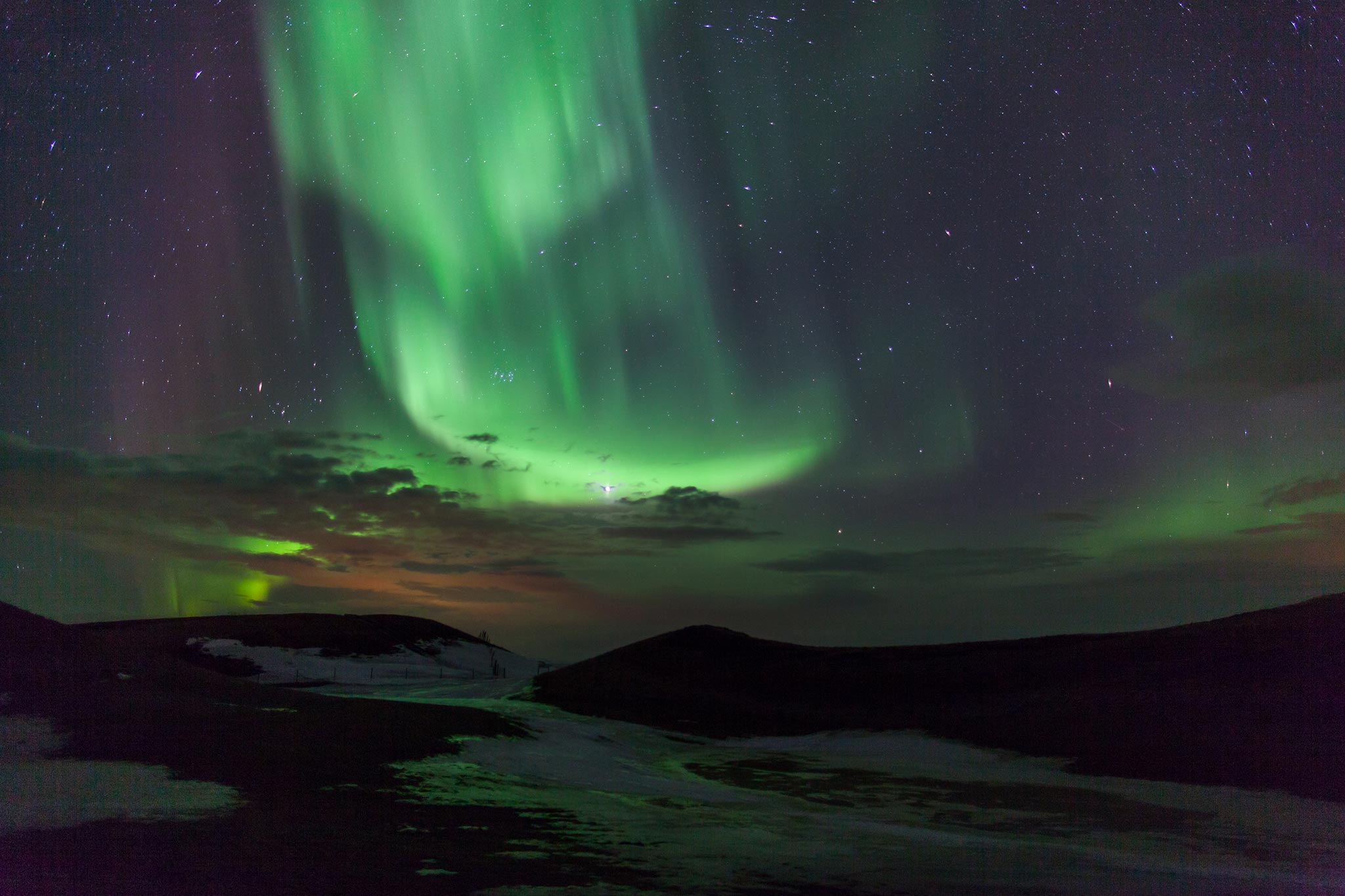 The best place to see the Northern Lights in Iceland